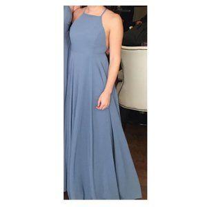 Lulus Slate Blue Maxi Dress XS